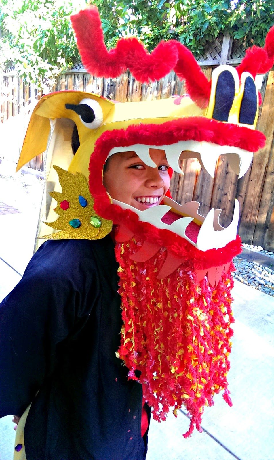 how to make a chinese dragon costume head