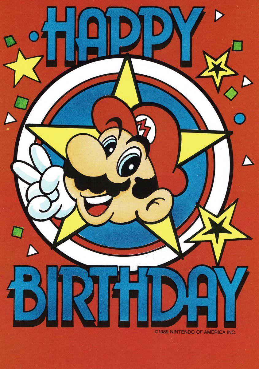 Super Mario Bros Birthday Cards 1989 Mario Bros Birthday Birthday Cards For Brother Super Mario Brothers Birthday