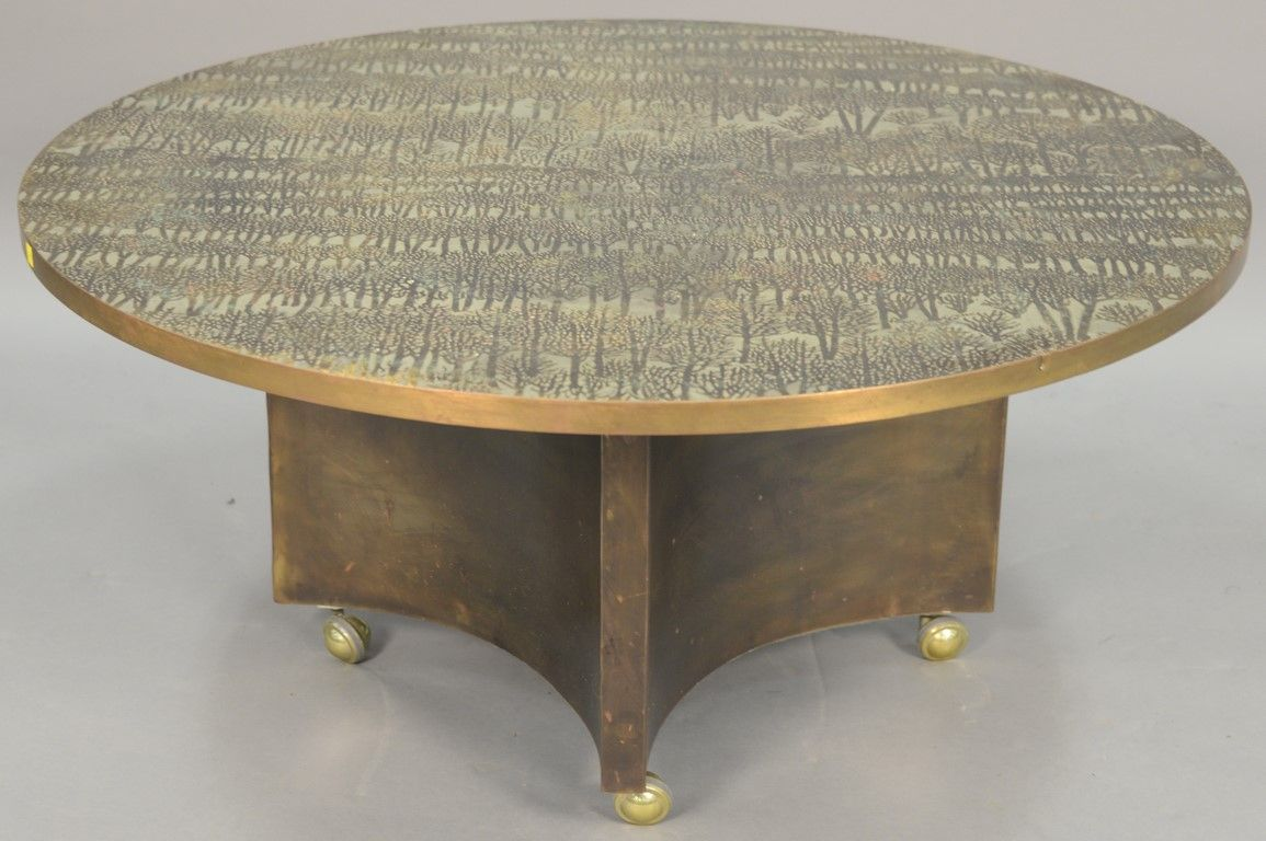 Philip Laverne Coffee Table.Philip And Kelvin Laverne Eternal Forest Coffee Table Acid Etched