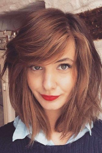 Easy Bob Hairstyles Pleasing 18 Easy Styling And Cute Side Bangs  Side Bangs Bangs And Easy