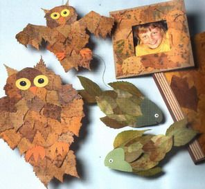 опавших, разноцветных, сухих листьев | Осенние поделки ...