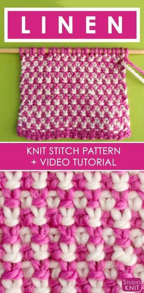 How To Knit The 2 Color Linen Stitch With Studio Knit A