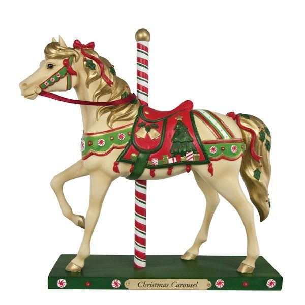 NEW - The Trail of Painted Ponies Horse - Christmas Carousel $4800 - christmas carousel decoration