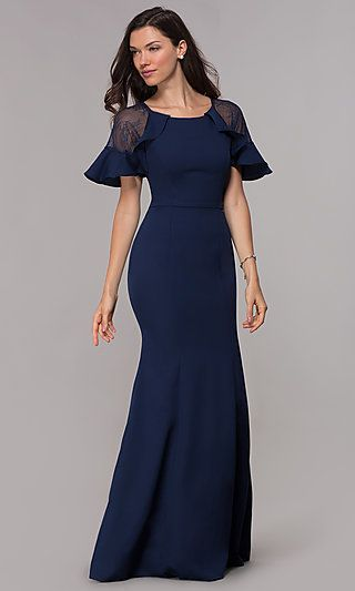 a8781d05b808 Shop formal short-sleeve mother-of-the-bride dresses at Simply Dresses. Long  dresses under $100 and jersey evening dresses with short flutter sleeves,  ...