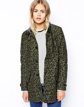 07b8c737a585 Carhartt Trench Coat With All Over Leopard Print | wishlist ...