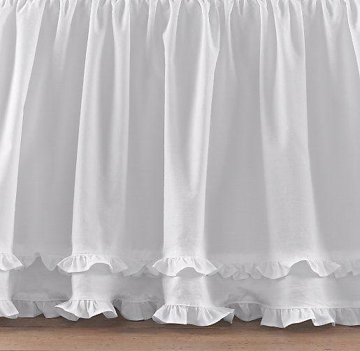 european vintage washed ruffle skirt crib bed skirts