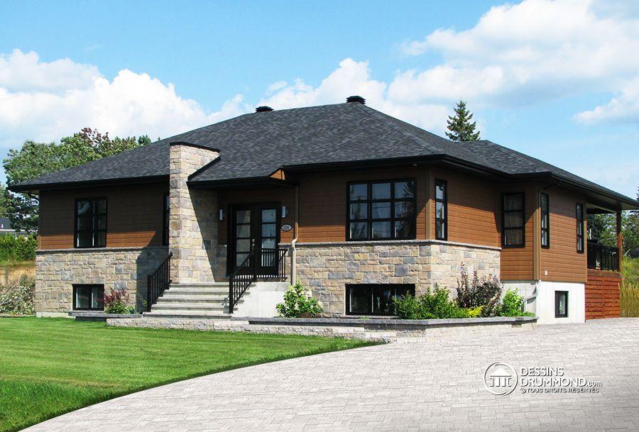 Détail du plan de Maison unifamiliale W3128-V1 Architecture