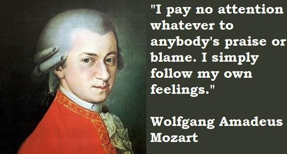 Wolfgang Amadeus Mozart famous quotes | Art & All Things ...Wolfgang Amadeus Mozart Music List