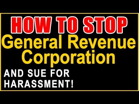 stop general revenue corporation sue for harassment recover