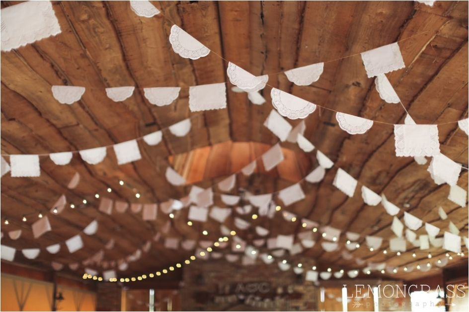 Doily String Decor | Rustic Barn Wedding | Lemongrass Photography | Indianapolis Wedding Photographer