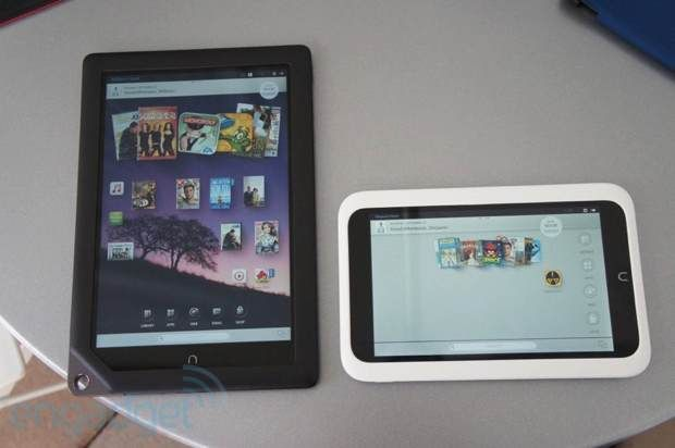 Barnes Noble S Nook Hd 7 Inch Android Tablet Hands On Video