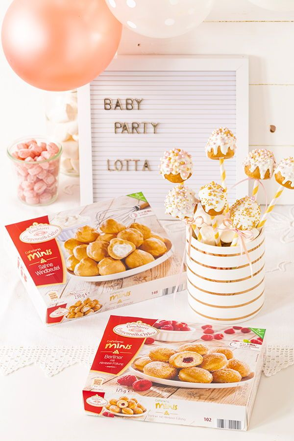 Einfache Cake Pops für den sweet table zur Babyparty für Mädchen und Jungen ganz ohne backen. Rezept auf unserem Online-Magazin www.kuchenkult.de #Babyparty #Cakepops #Gold #einfach #hack #Rezept #Idee