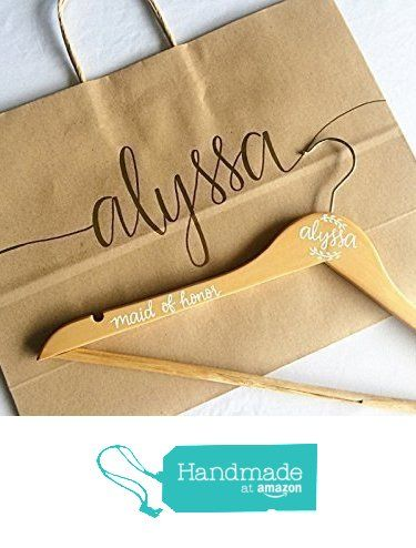 Custom Personalized Calligraphy Embossed Gift Bag for Weddings, Bridal Party Gifts, Birthdays, and Engagement Showers from Laird & Brie https://www.amazon.com/dp/B01N26UUJS/ref=hnd_sw_r_pi_dp_4VmNyb0XA1KTK #handmadeatamazon