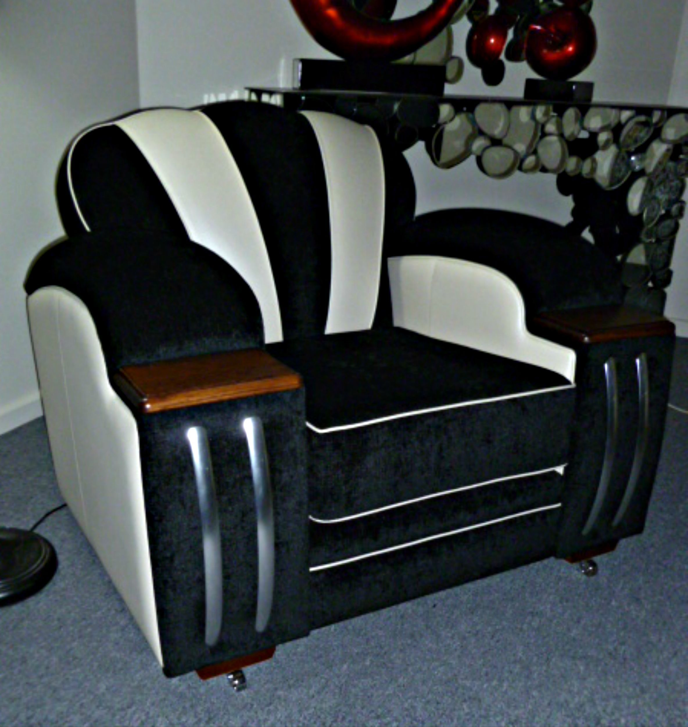 Deco, Retro, And Club Lounge Suite Made To Order Factory Direct Australian Made FACTORY SHOWROOM 100 Gaffney Street Coburg Melbourne phone 03 93501699 open 7 days 10 till 5 www.decofurniture... www.facebook.com/....