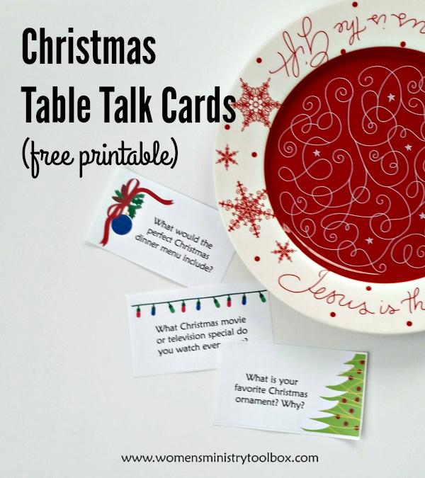 Christmas Table Talk Cards (Free Printable) Christmas