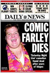 how did chris farley die