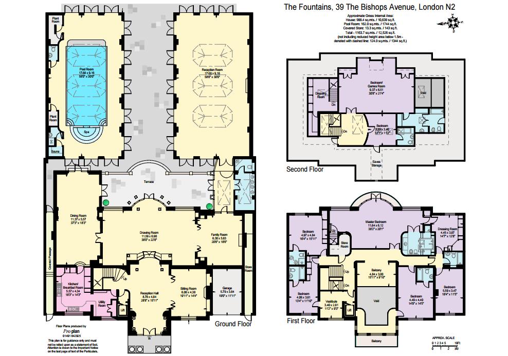 15 Million Palladian Style Brick Mansion In London England Floor Plans Modern Floor Plans Architectural Floor Plans