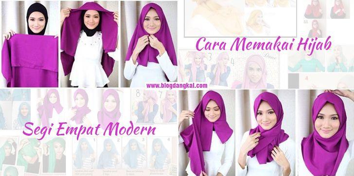 Cara Memakai Hijab Segi Empat Modern Duni Fashion Sampai Dengan Hari Ini Terus Berkembang Dan Menjadi Trend Yang Tidak Ada Henti Hen Hijab Wanita Jarum Pentul