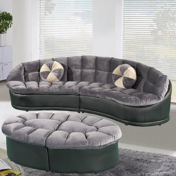 Curtiss 136 Quot Symmetrical Sectional With Ottoman 2 Piece