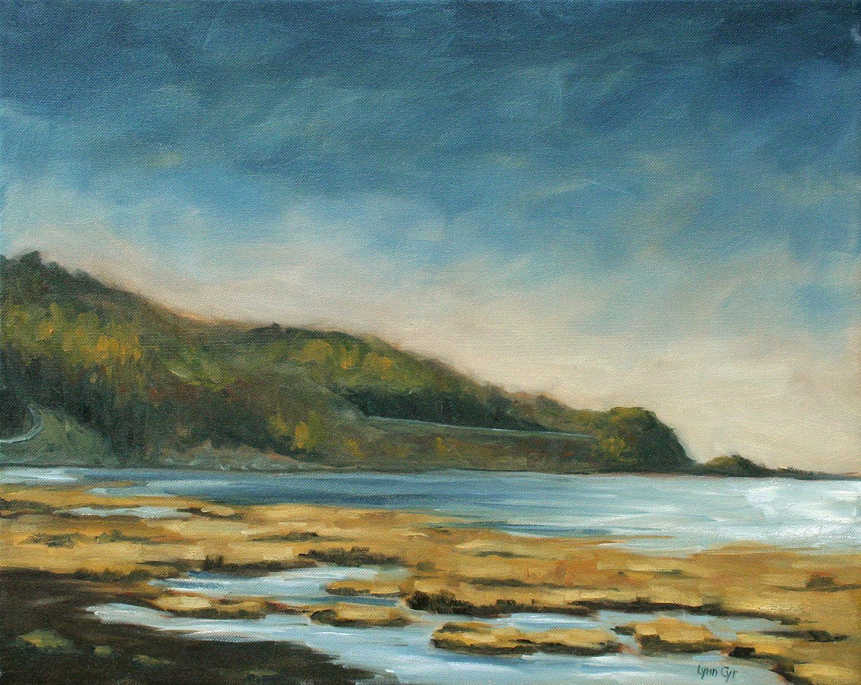 Low Tide - Lynn Cyr, fine artist (oil painting marsh/low tide in St-Joseph-de-la-Rive, Charlevoix, Quebec)