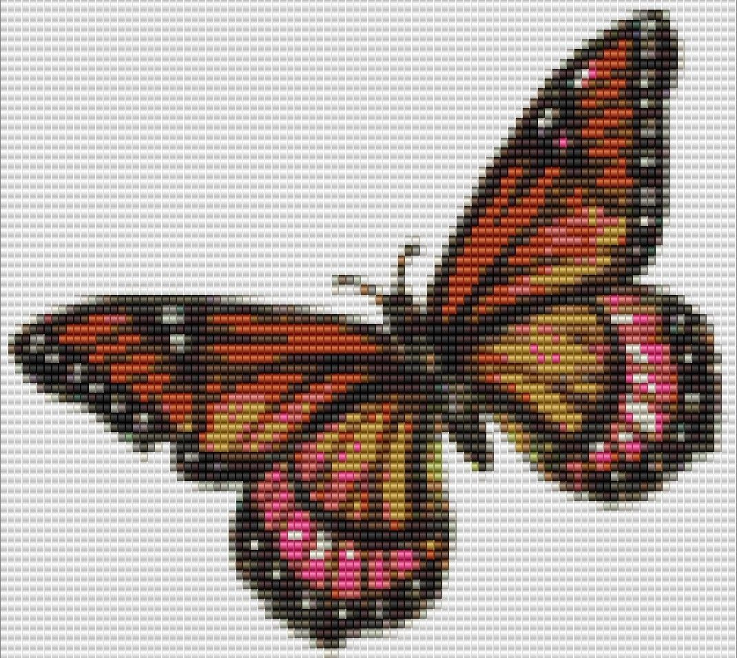 Butterfly bead pattern (With images) Easy beading