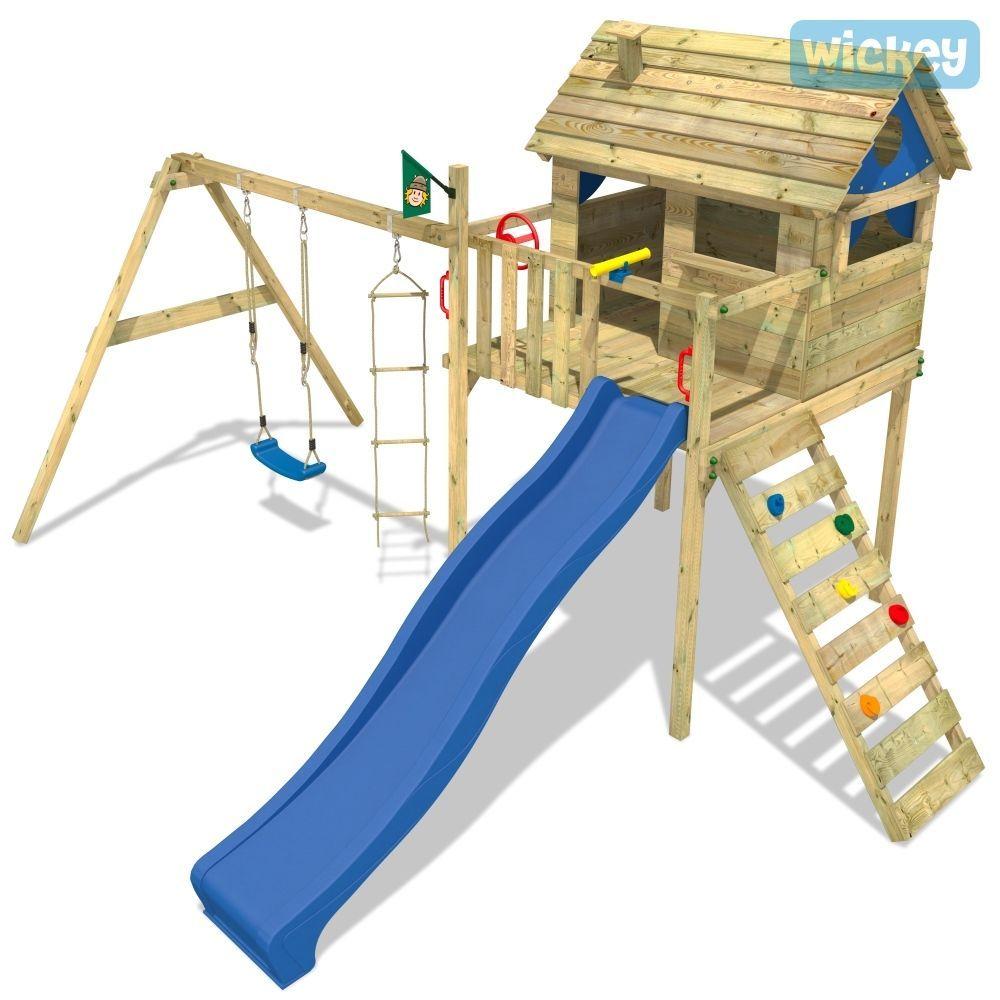 Wickey Smart Plaza Spielturm Stelzenhaus Kletterturm Schaukel Rutsche Spielhaus Garten Terrasse Gartenbau Spielturm Schaukel Rutsche Spielturm Mit Rutsche