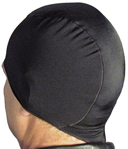 Wickit Motorcycle Helmet Liner Skull Cap Doo Rag I Helmet Liner Helmet Hair Classic Black