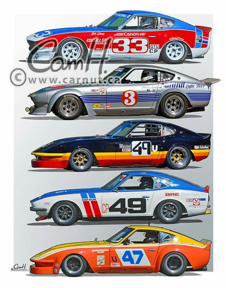 Datsun 280ZX Bob Sharp racing Paul Newman driving  Vintage Race