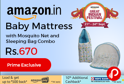 Amazon Great Indian Festival 2017 Brings Lighting Deal And Offering Baby  Mattress With Mosquito Net And Nice Ideas