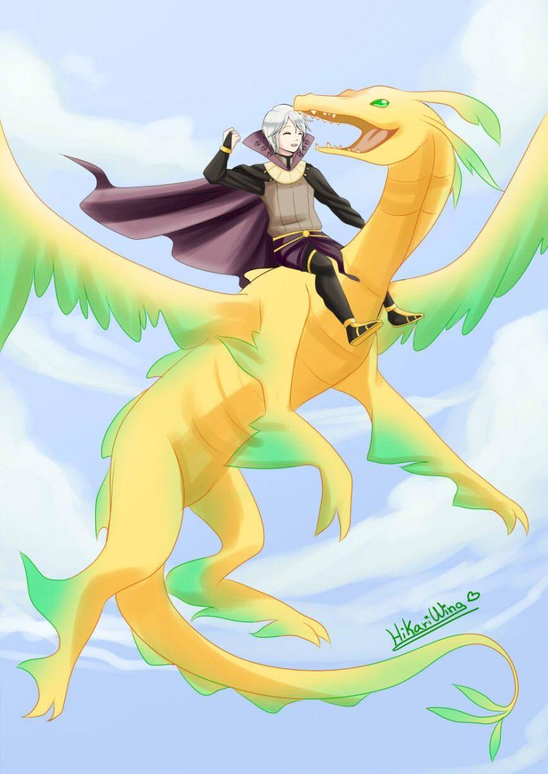 Henry & Nowi in her dragon form.   Fire Emblem   Pinterest   Fire ...
