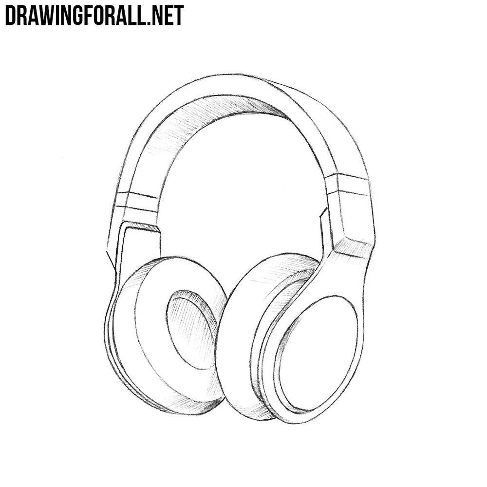 Sketch Of Couple With Headphone Black And White