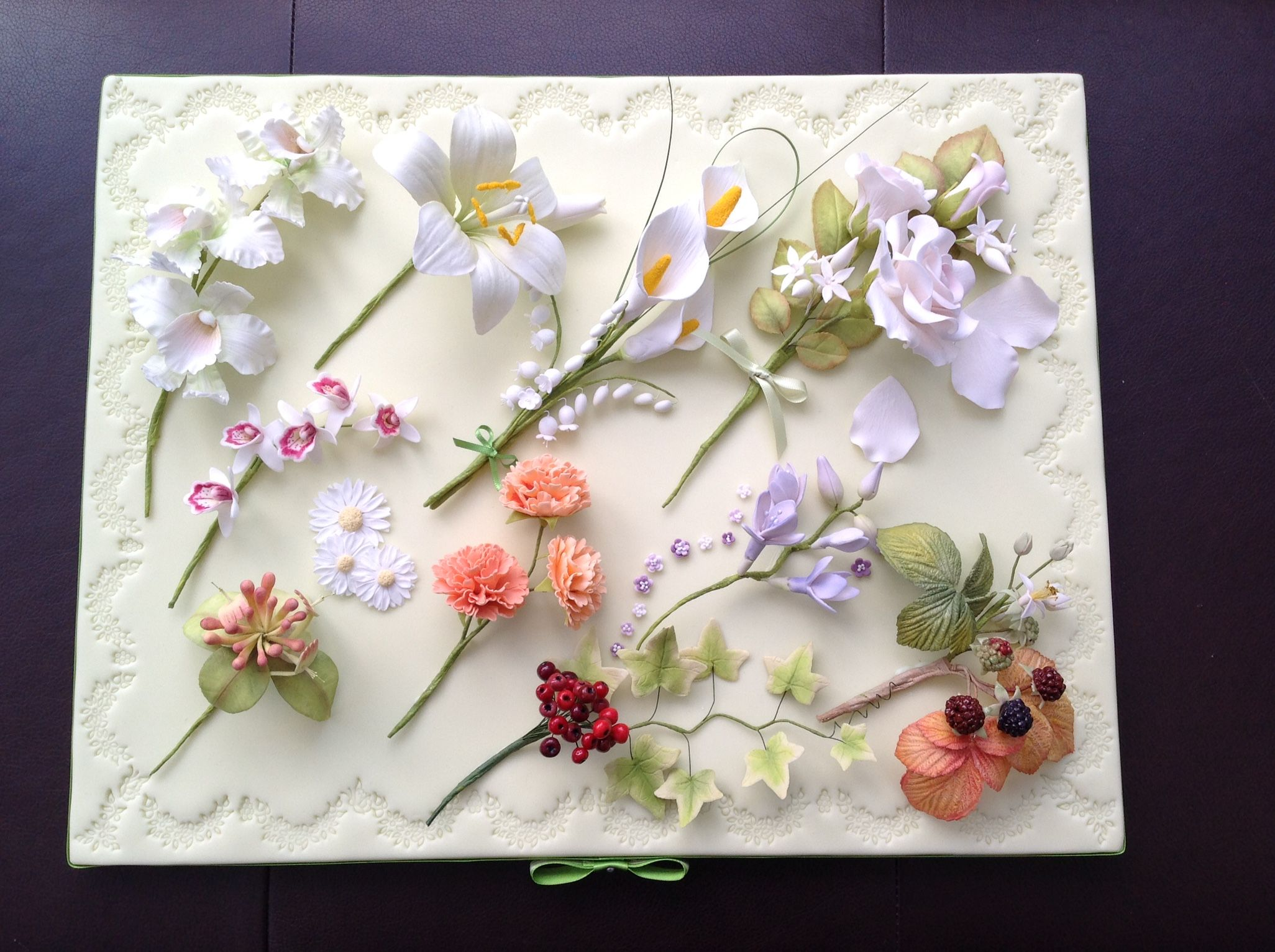My Pme Sugar Flowers Diploma Presentation Board Cake