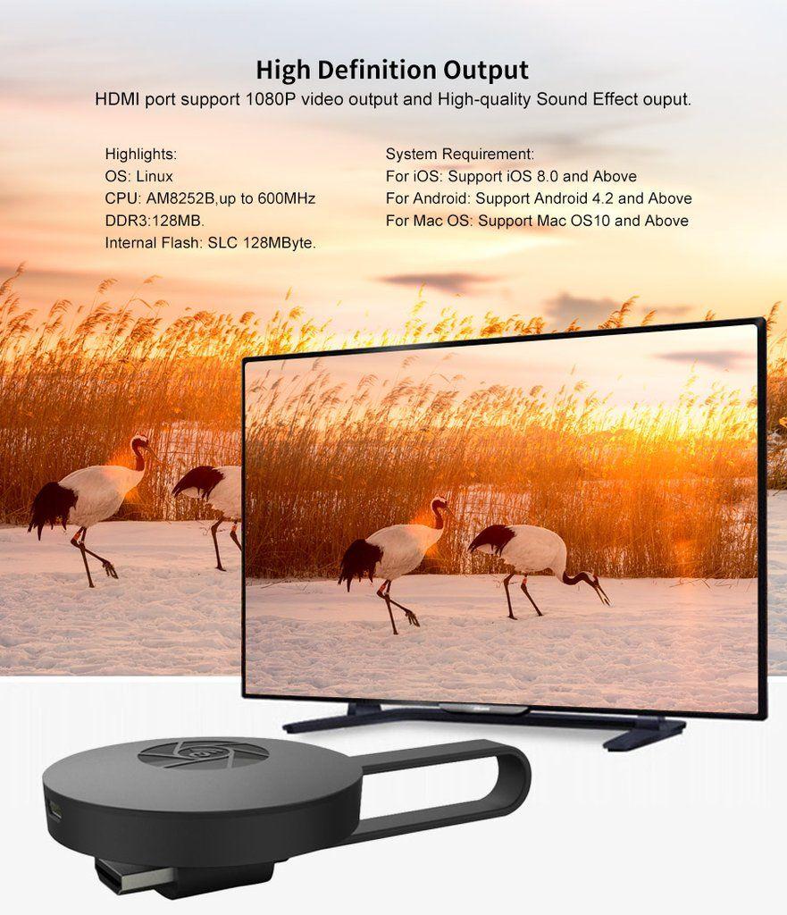 Möchten Sie den Bildschirm mit anderen teilen oder HD-Filme genießen, die zu Hause bleiben? Ultimate...