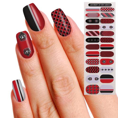 New Mexico Lobos Womens 24-Pack Fingernail Appliques | New Mexico ...
