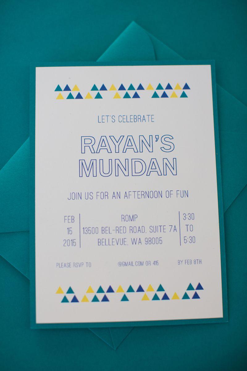Mundan Invite Dotdetails Com Modern Party Invite Mundan