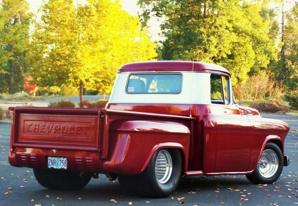 Chevy Bowtie Power Classic Pickup Trucks Vintage Trucks Cool