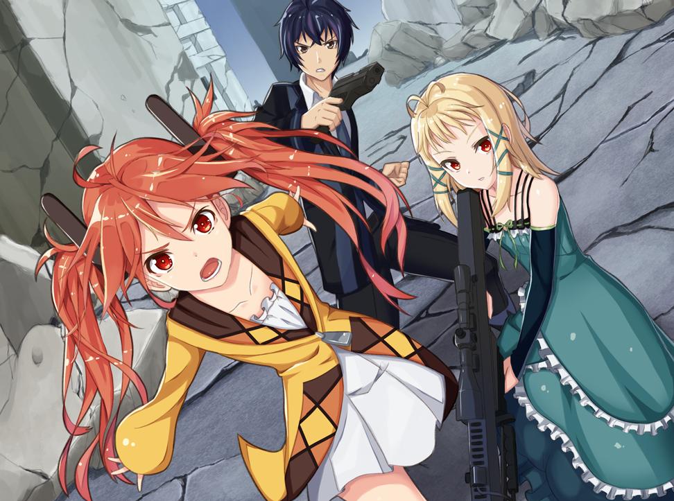 Rentaro, Enju & Tina Black Bullet Black Bullet ブラック