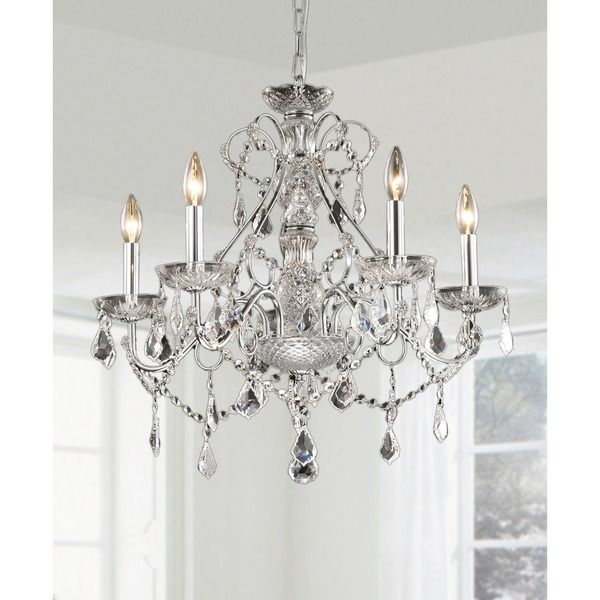New orleans 5 light crystal chandelier overstock shopping great new orleans 5 light crystal chandelier overstock shopping great deals on otis aloadofball Choice Image