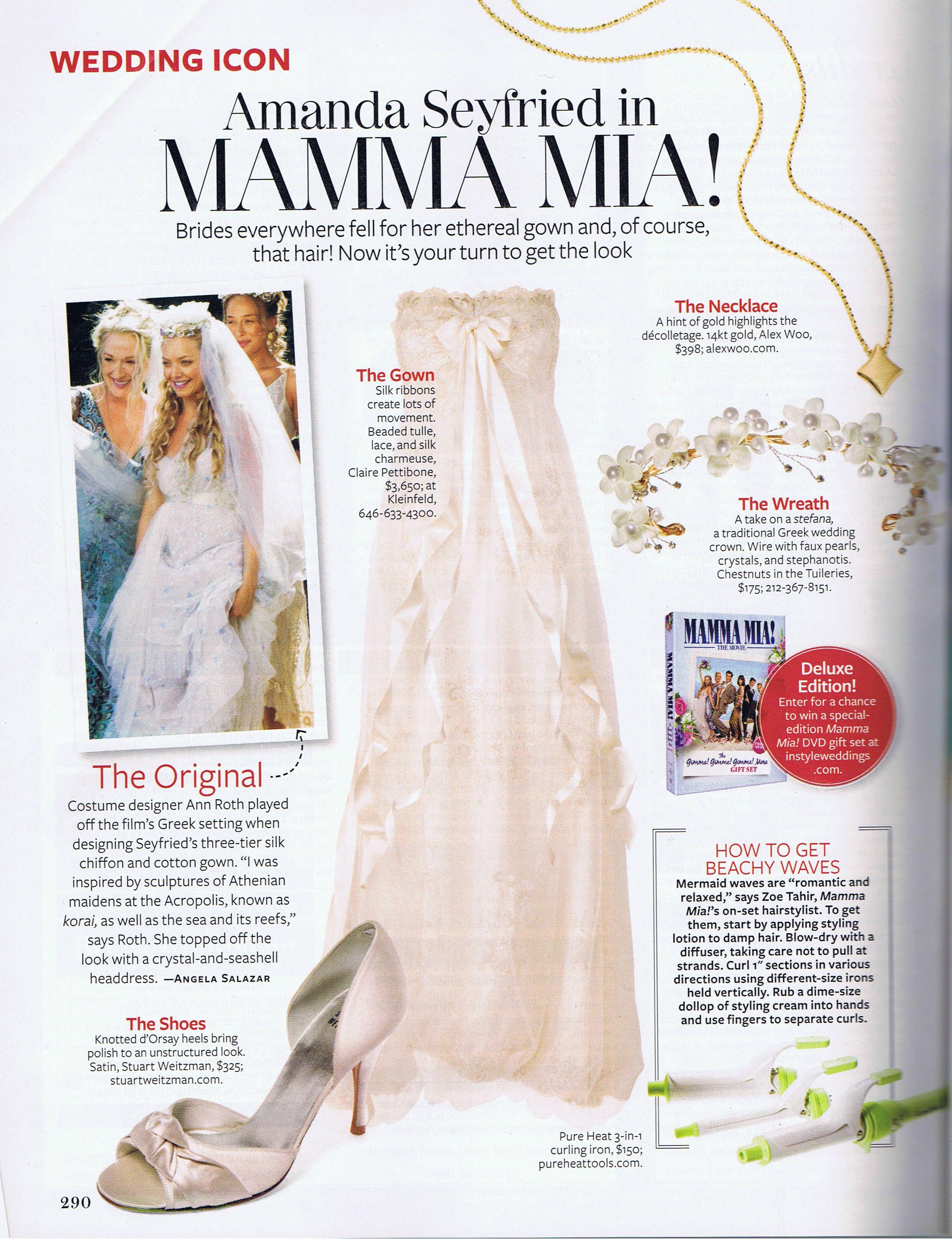 Mamma Mia Wedding Claire Pettibone Gown Wedding Future