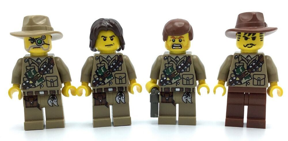 WWII Russian heads x5 Custom Army military minifigures lego bricks