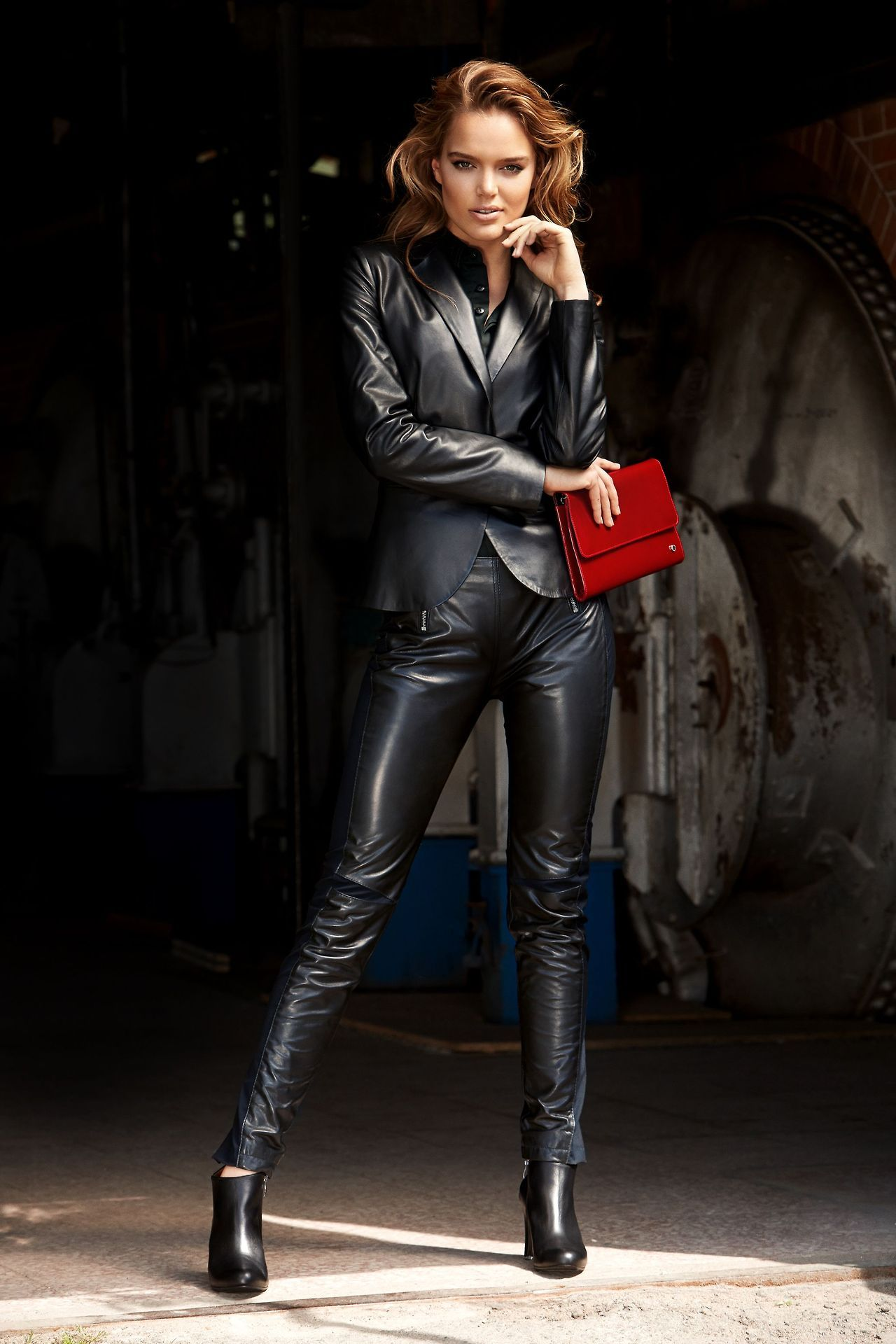 Sexy leather suit