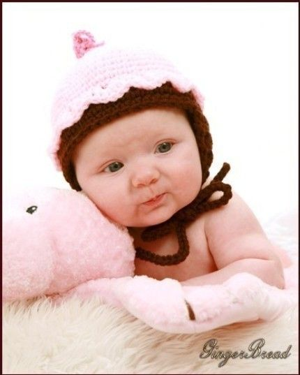 Infants to Adults Cupcake Hat Crochet Pattern by SandysCapeCodOrig, $4.95