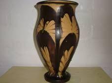 Kähler (Herman A. Kähler) vase. H: 25 cm D: 16 cm from about 1910s. Signed HAK. #kahler #ceramics #pottery #hak #dansk #keramik #vase #Danish SOLGT/SOLD on www.klitgaarden.net