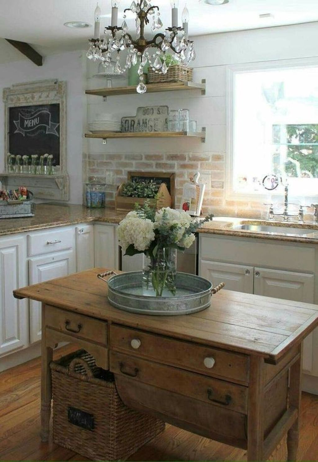 46 Inspiring Rustic Country Kitchen Ideas To Renew Your Ordinary Kitchen images