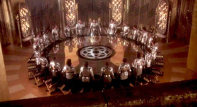 Excalibur First Meeting Of The Knights Of The Round Table In Camelot Templarios Imagens De Fantasia Templarios