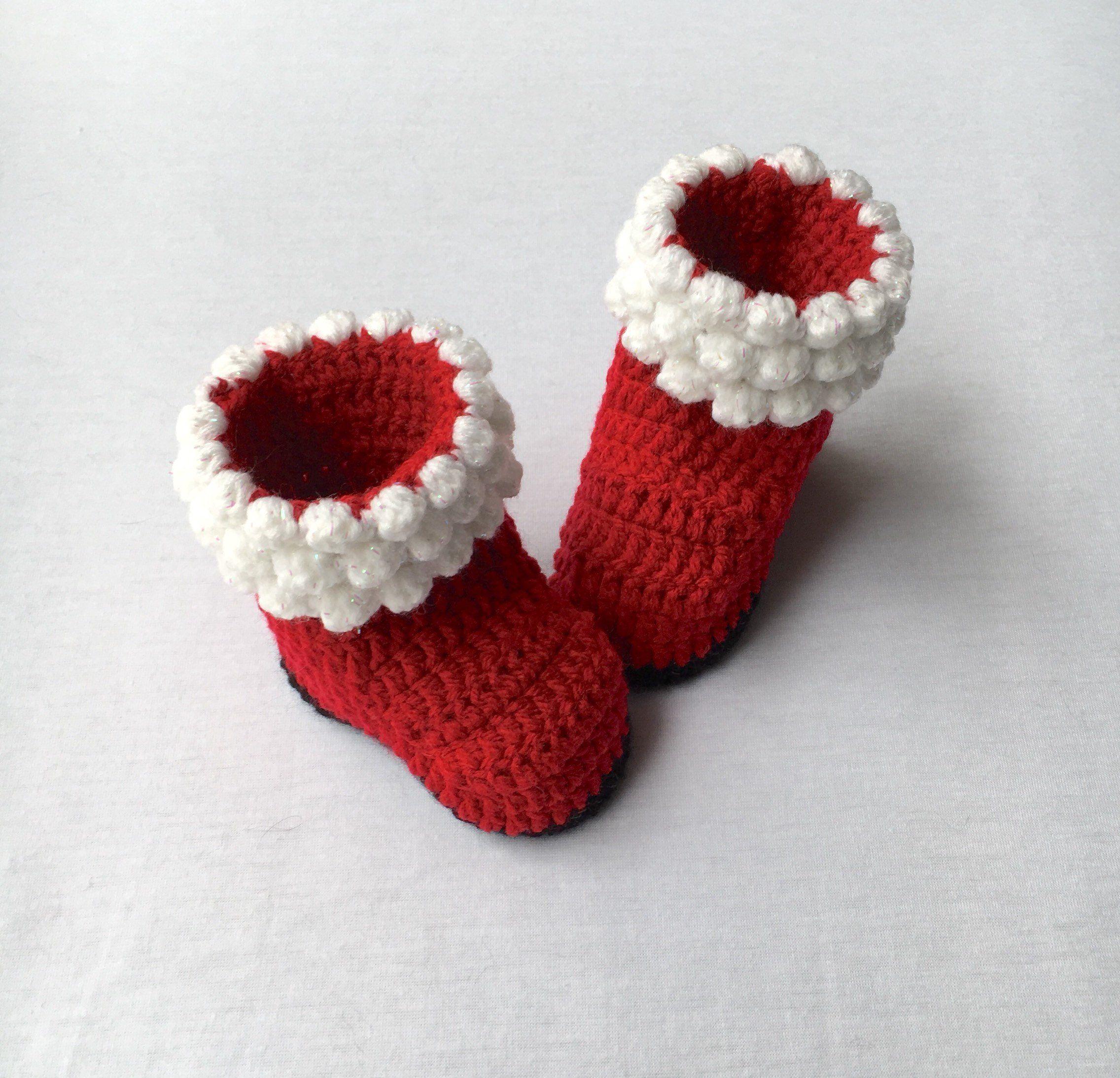 b03d676ab so cheap 5a7a7 a00cb santa boots crochet boots baby girl clothes ...