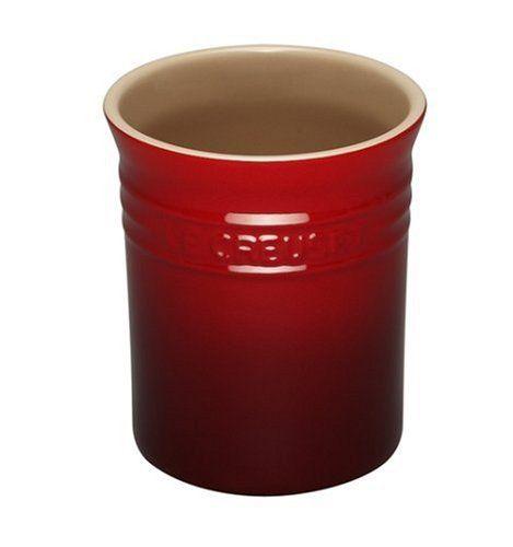 kitchen utensil crock stoneware and ceramic utensil holder rh pinterest co uk  red ceramic kitchen utensil holder