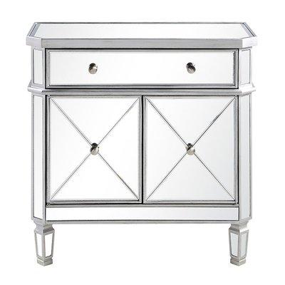Wildon Home 1 Drawer 2 Door Accent Cabinet In 2020 Silver Furniture Mirrored Furniture Accent Cabinet