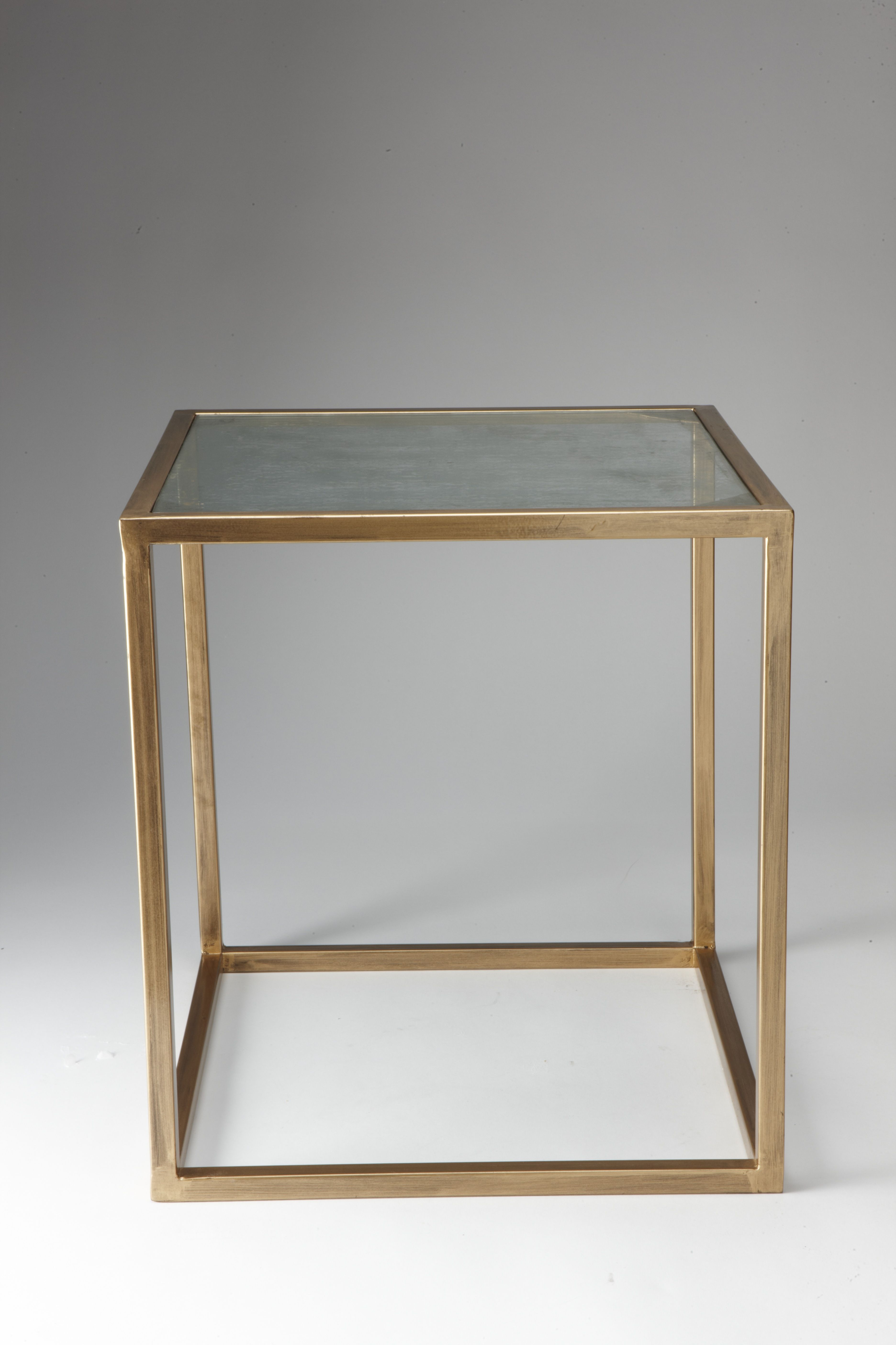 Nathan Mallonee Santos Berkus Accent Table Gold And Antiqued