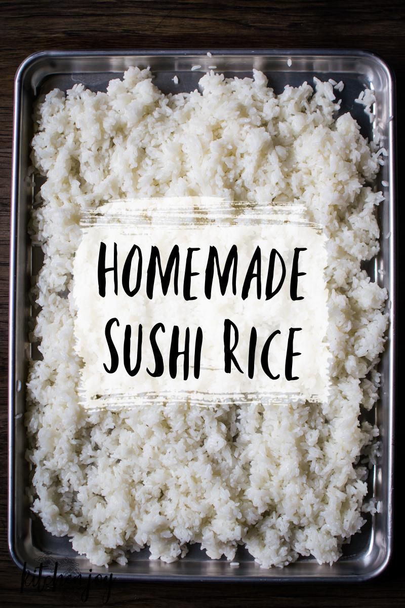 Homemade Sushi Rice + Sushi Vinegar